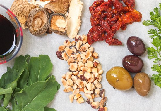 Umami flavor boosters for meatless meals